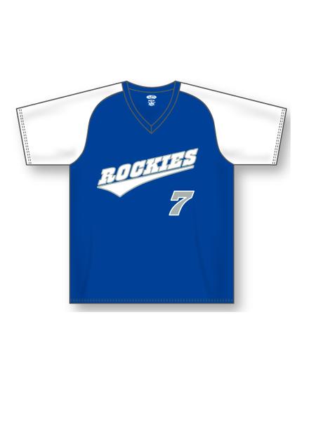 9efdf751a30 Athletic Knit br Dry-Flex V-Neck br Baseball Jersey